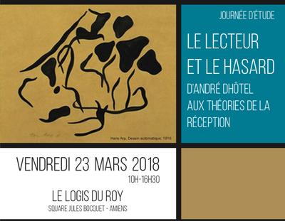 """Affiche """"Le Lecteur et le Hasard"""""""